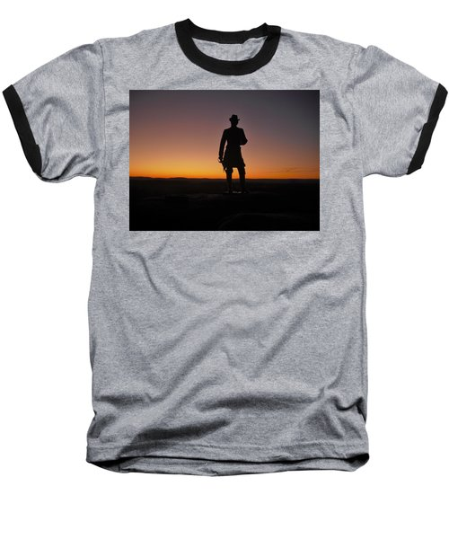 Baseball T-Shirt featuring the photograph Gettysburg Sunset by Ed Sweeney