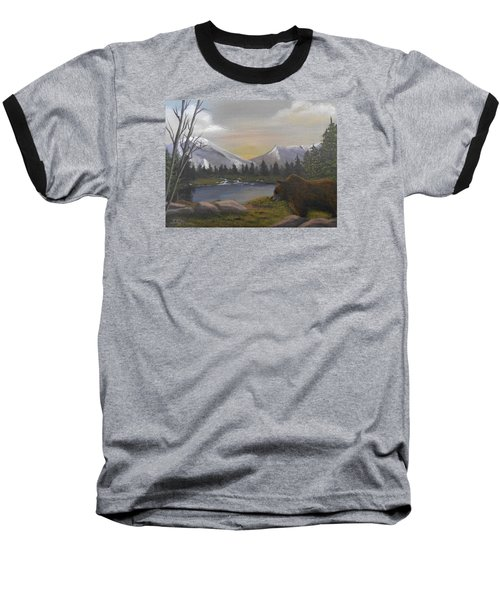 Ghost Bear-the Cascade Grizzly Baseball T-Shirt by Sheri Keith