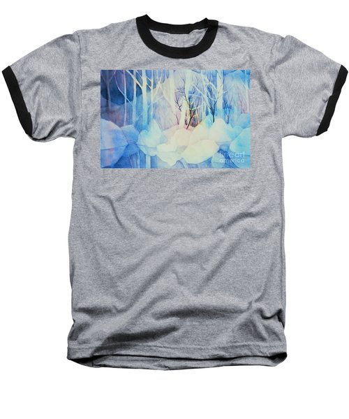 Baseball T-Shirt featuring the painting Ghost Forest by Teresa Ascone