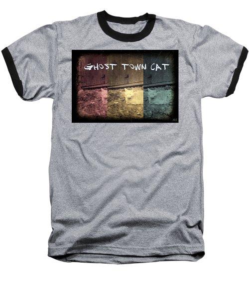 Baseball T-Shirt featuring the photograph Ghost Town Cat by Absinthe Art By Michelle LeAnn Scott