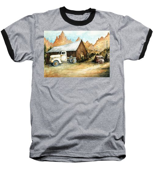 Ghost Town Nevada - Western Art Painting Baseball T-Shirt
