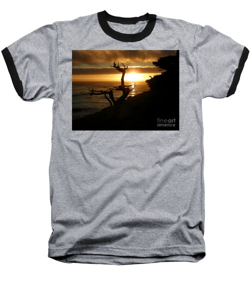 Ghost Tree At Sunset Baseball T-Shirt