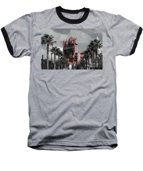 Ghostly At The Tower Baseball T-Shirt