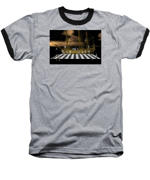 Baseball T-Shirt featuring the digital art Ghostship Gala 2 by Claude McCoy