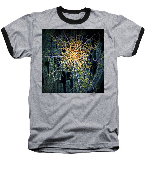 Giant Basket Star At Night Baseball T-Shirt