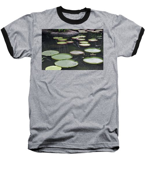 Baseball T-Shirt featuring the photograph Giant Lily Pads by Shoal Hollingsworth