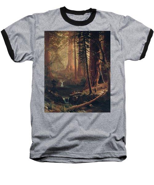 Giant Redwood Trees Of California Baseball T-Shirt