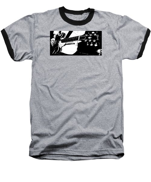 Gibson Guitar Graphic Baseball T-Shirt by Chris Berry