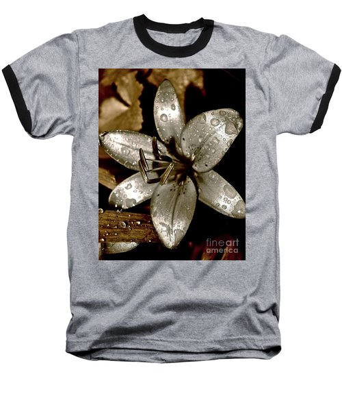 Baseball T-Shirt featuring the photograph Gilded  Lilies 2 by Linda Bianic