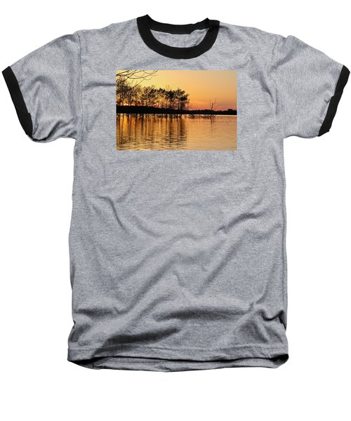 Baseball T-Shirt featuring the photograph Gilded Sunset by Julie Andel