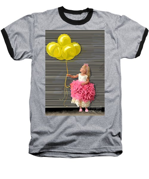 Gillian With Yellow Balloons Baseball T-Shirt by Tim Gilliland