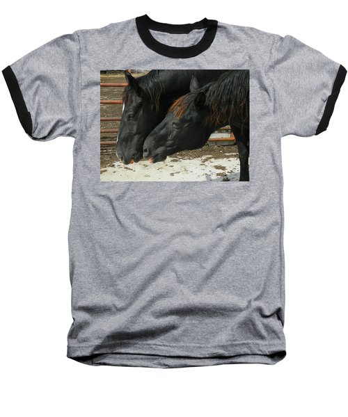 Baseball T-Shirt featuring the photograph Gimme That Apple by Kathy Barney