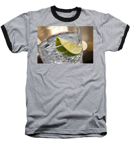 Gin Tonic Cocktail Baseball T-Shirt by Ulrich Schade