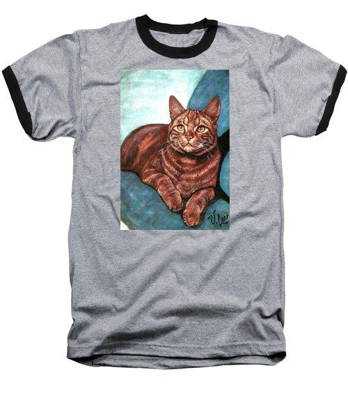 Ginger Tabby Baseball T-Shirt