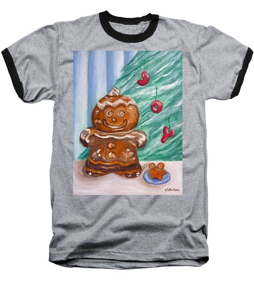 Gingerbread Cookies Baseball T-Shirt by Victoria Lakes
