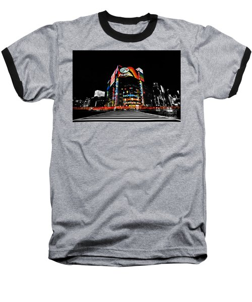 Ginza At Night Baseball T-Shirt