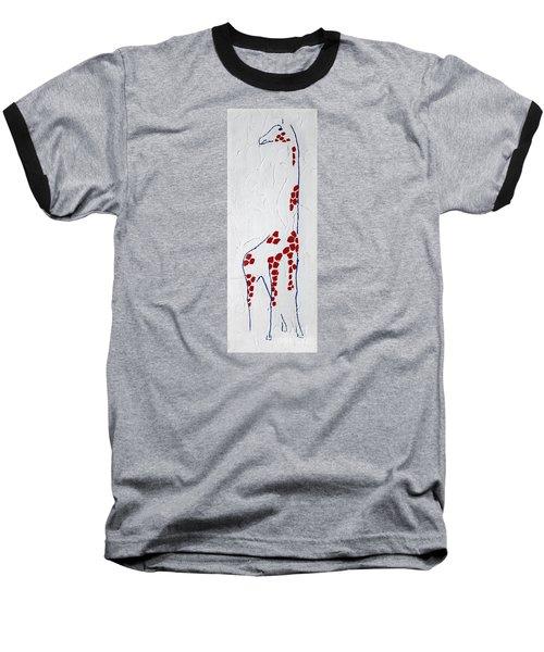 Giraffe Abstract Baseball T-Shirt