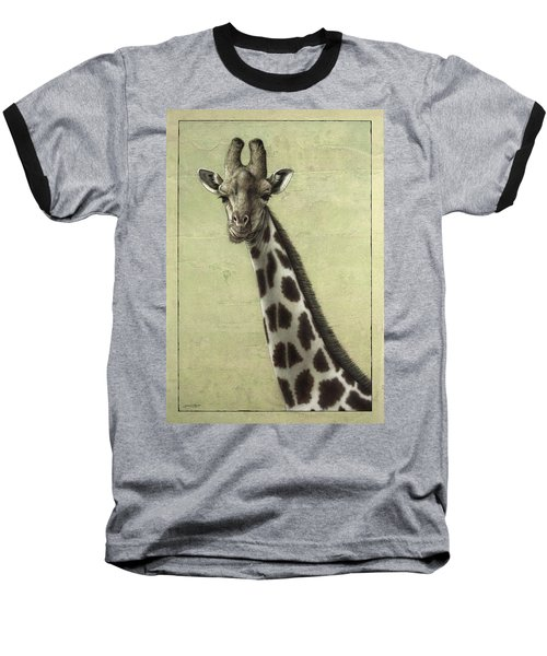 Giraffe Baseball T-Shirt by James W Johnson