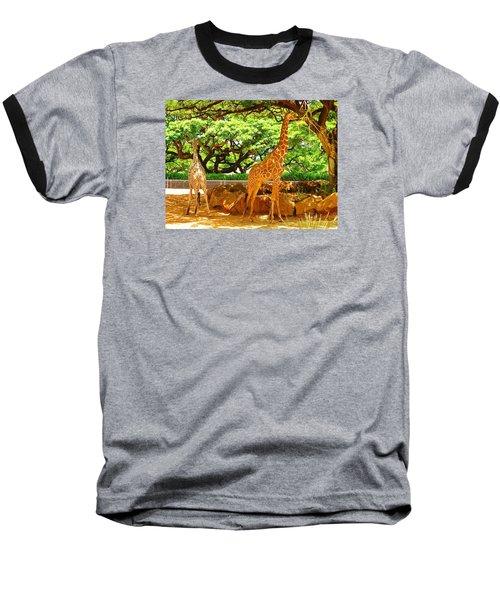 Giraffes Baseball T-Shirt