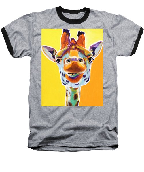 Giraffe - Sunflower Baseball T-Shirt