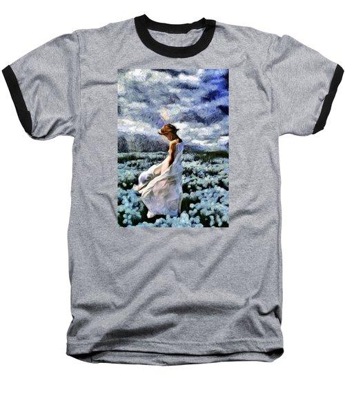 Girl In A Cotton Field Baseball T-Shirt