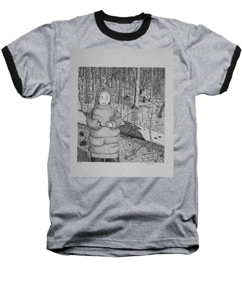 Girl In The Forest Baseball T-Shirt