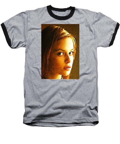 Baseball T-Shirt featuring the painting Girl Sans by Richard Thomas