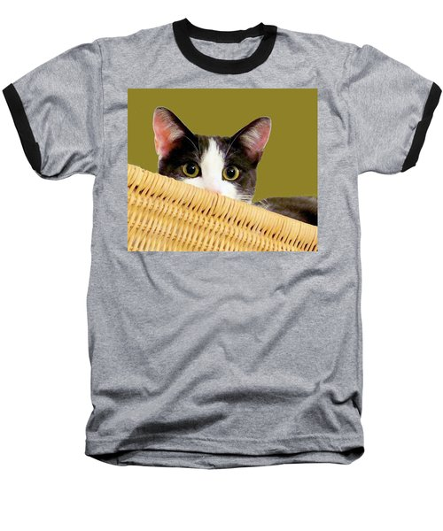 Baseball T-Shirt featuring the photograph Girlie Cat  by Janette Boyd