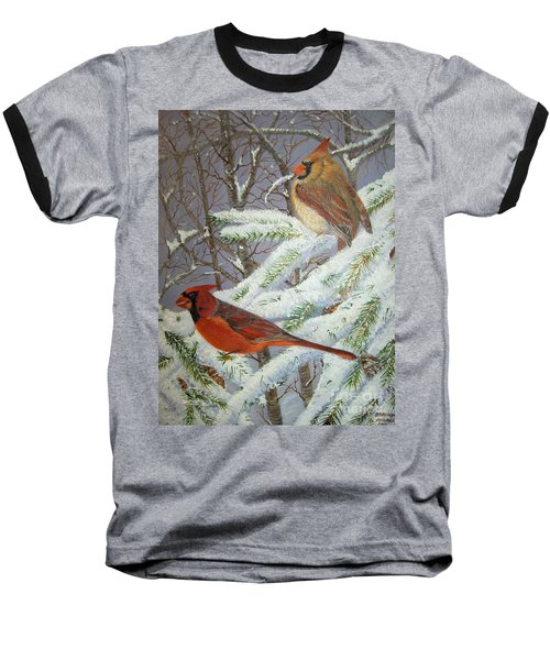 Give Her Wings To Fly Baseball T-Shirt by Brenda Brown