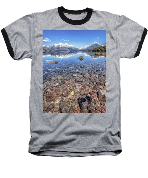 Glacial Lake Mcdonald Baseball T-Shirt