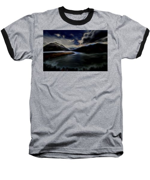 Baseball T-Shirt featuring the digital art Glacial Light 1 by William Horden