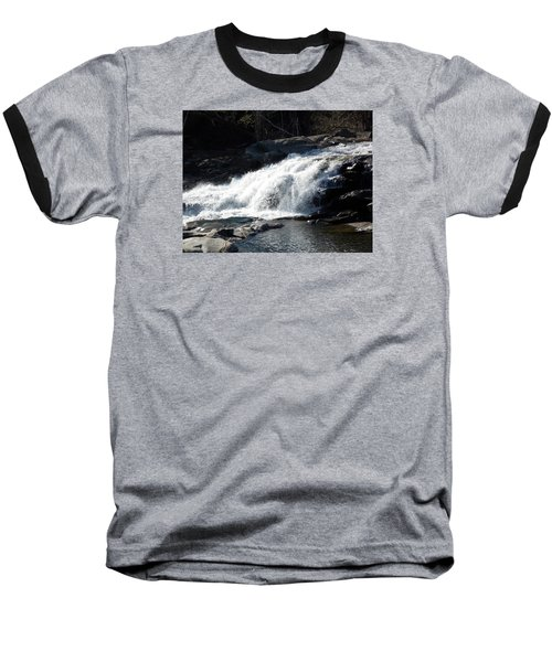 Glacial Potholes Falls Baseball T-Shirt by Catherine Gagne