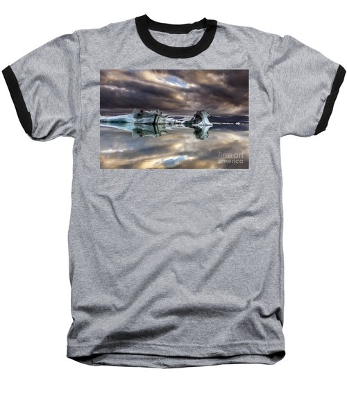 Glacier In Water Baseball T-Shirt