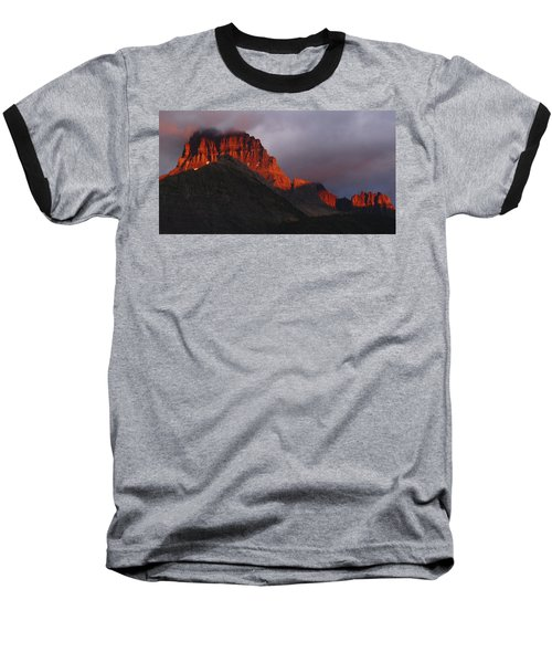 Glacier Sunrise Baseball T-Shirt