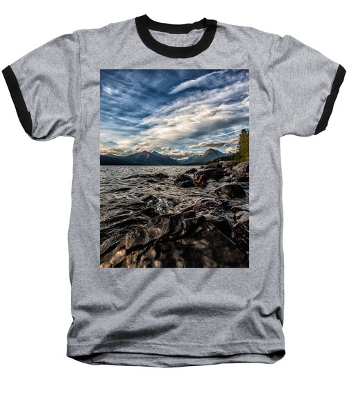 Glacier Whispers Baseball T-Shirt by Aaron Aldrich