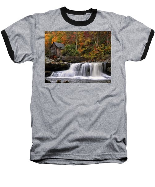 Glade Creek Grist Mill - Photo Baseball T-Shirt by Chris Flees