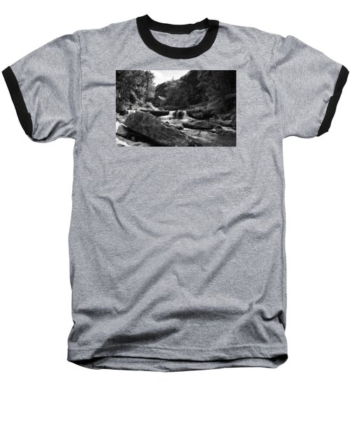 Glade Creek Waterfall Baseball T-Shirt by Shelly Gunderson