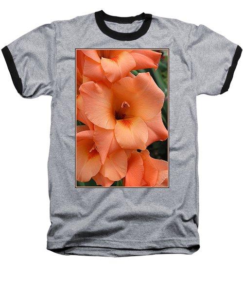 Gladiola In Peach Baseball T-Shirt