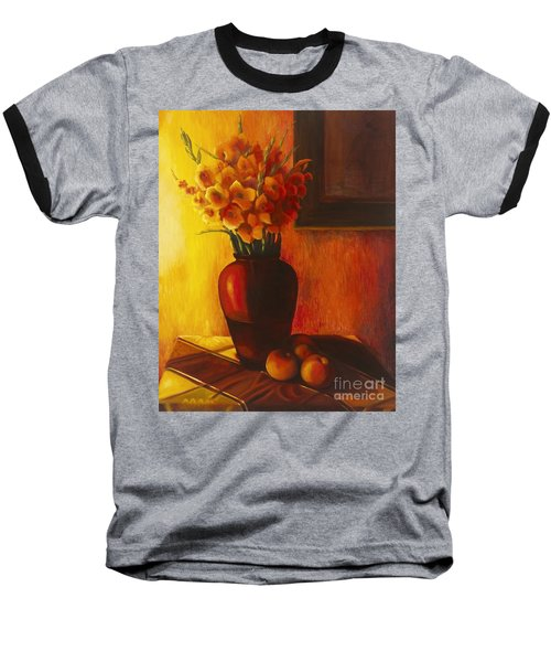 Gladioli Red Baseball T-Shirt