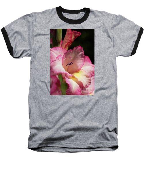 Gladiolus In Pink Baseball T-Shirt by Joy Watson