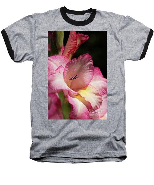 Gladiolus In Pink Baseball T-Shirt