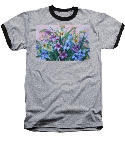 Gladiolus Baseball T-Shirt by Natalie Holland