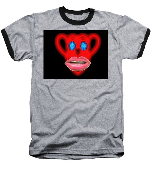 Glamour Monkey Blue Whirls Baseball T-Shirt