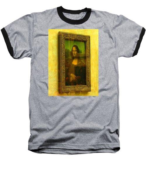 Glance At Mona Lisa Baseball T-Shirt by Oleg Zavarzin