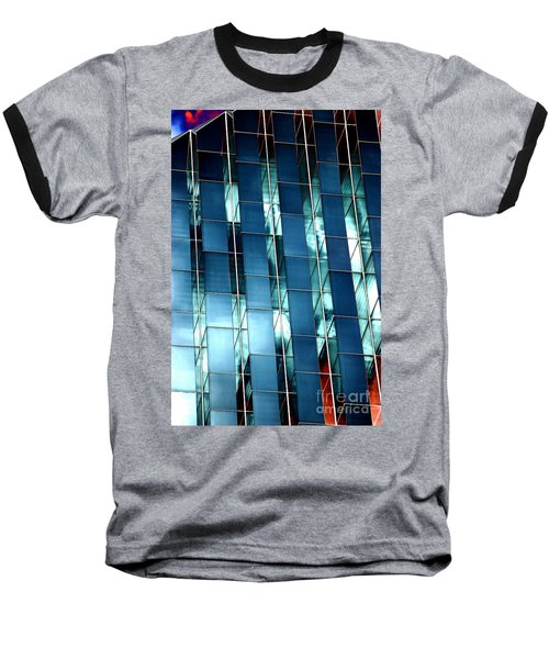 Glass House II Baseball T-Shirt by Christiane Hellner-OBrien