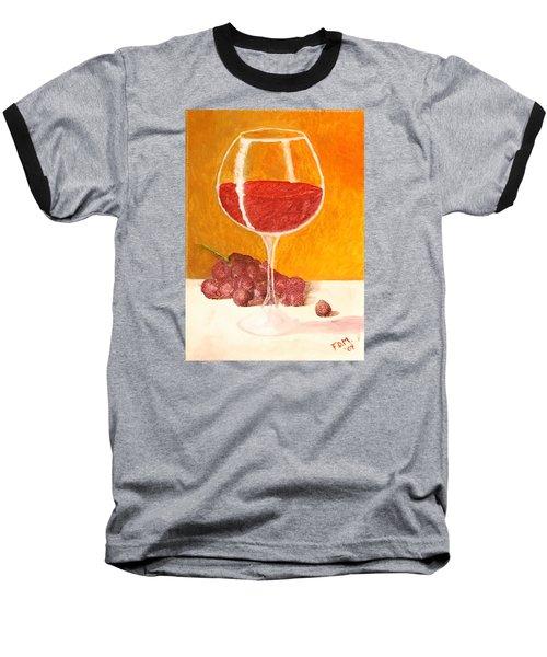 Glass Of Grapes Baseball T-Shirt