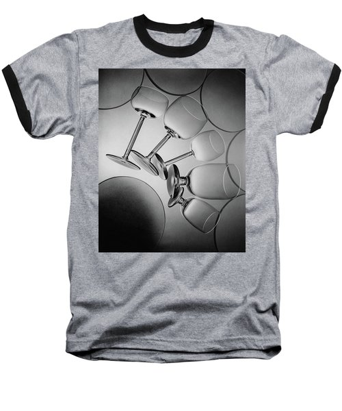 Glassware Layed Out On A Glass Table Baseball T-Shirt