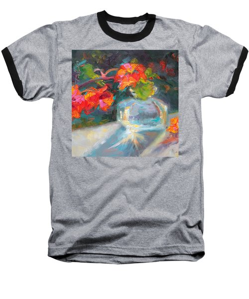 Gleaning Light Nasturtium Still Life Baseball T-Shirt
