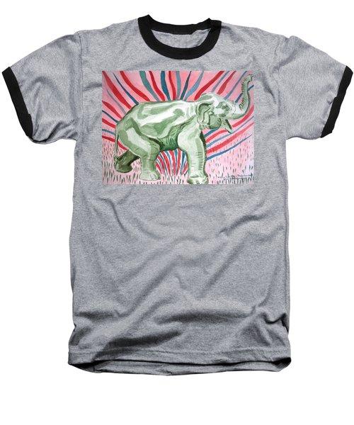 Gleeful Elephant Baseball T-Shirt
