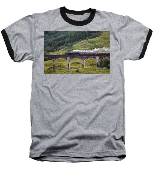 Glenfinnan Viaduct - D002340 Baseball T-Shirt by Daniel Dempster